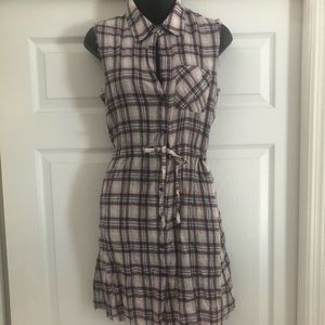 THEORY DRESS plaid red white and blue 🇺🇸 SZ S